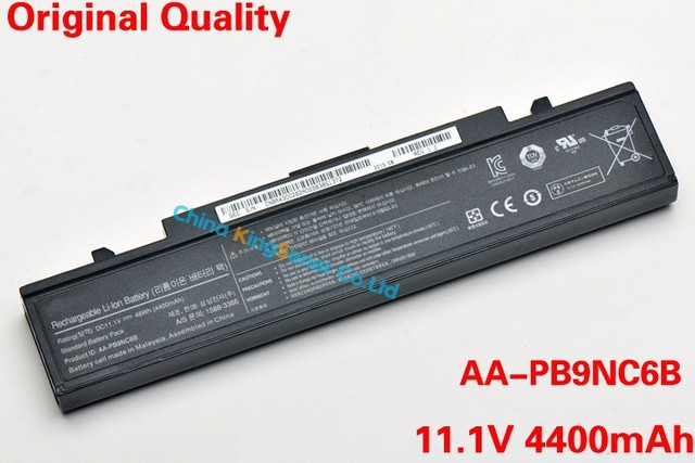 Corea AA-PB9NC6B Celular Batería Original Del Ordenador Portátil para SAMSUNG R428 R429 R430 R467 R468 R528 R560 AA-PB9NC6W AA-PB9MC6W AA-PL9NC6B