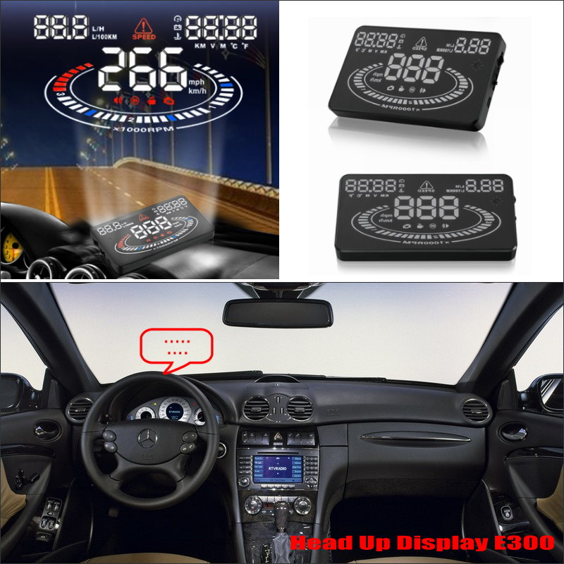 Car HUD Head Up Display For Benz CLK Class W209 2008 Refkecting Windshield font b Screen