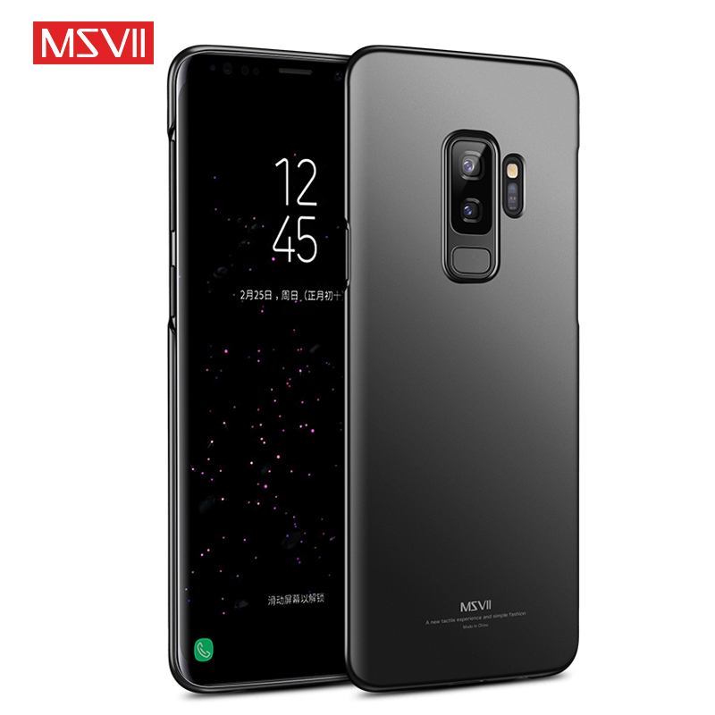 US $2 99 40% OFF|MSVII Phone Cases for Samsung S9 Case Cover for Galaxy S9  Plus Case Luxury Cover Matte Ultra Slim 360 Full Protection Back Cover-in