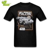 Сокол Тысячелетия Звездные войны человек футболка популярные классические футболки для мужчин короткий рукав 100% хлопковые футболки для де...