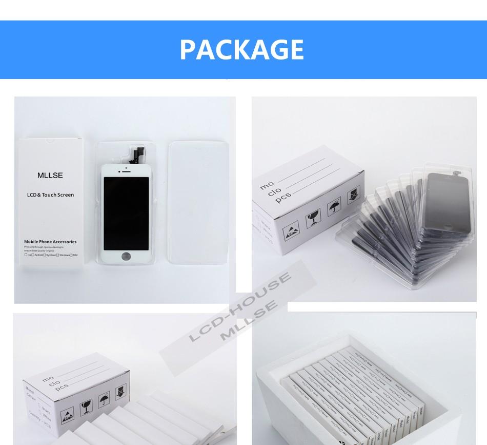 Mllse dla iphone 5 5s 5c moduł wyświetlacza lcd dotykowy ekran digitizer szklarz klon telefonu ekran lcd Klasy AAA jakość 11