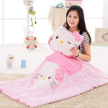 CXZYKING Anime Change Hello Kitty Doll Cartoon Kitty Cushion Pillow Quilt Soft Toys Cute Kitty Plush Toys For Children