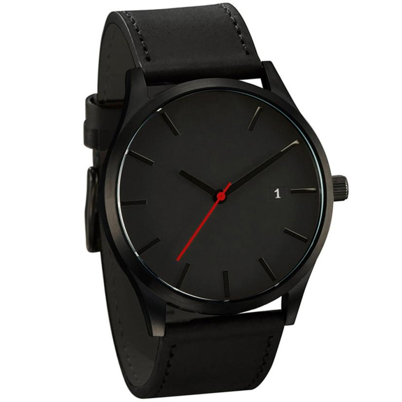 Popular Men Watches NEW Hot-sale Minimalist Leather Men's Quartz Wristwatch Casual Fashion Mens Clock Relogio Masculino Aug21