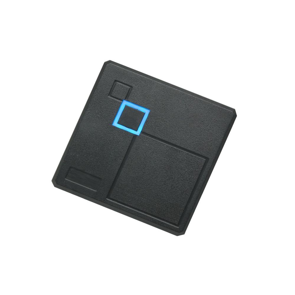 RFID 125KHZ WG26 Access Control card reader 86X86mm box access control reader +2 pcs crystal keyfobs