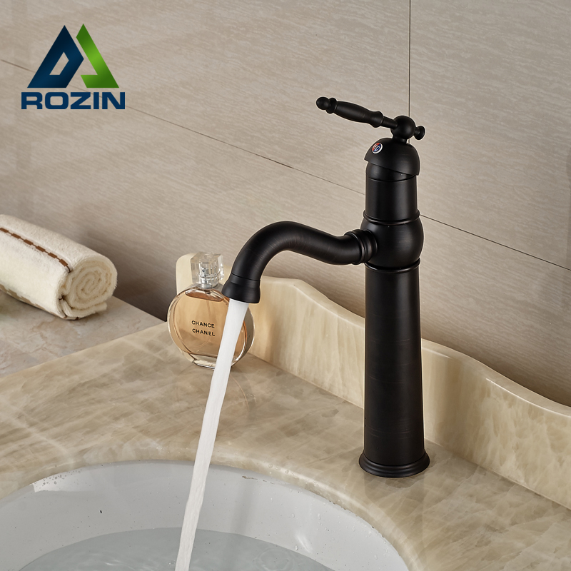 Oil Rubbed Bronze Bathroom Sink Mixer Faucet Single Handle Basin Lavatory Mixer Taps One Hole allen roth brinkley handsome oil rubbed bronze metal toothbrush holder