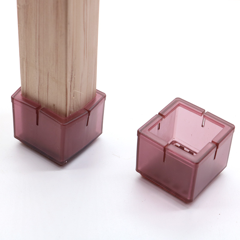 8Pcs Square Chair Leg Caps Rubber Feet Protector Pads Non-slip Table Foot Dust Cover Socks Pipe Plugs Furniture Leveling Feet