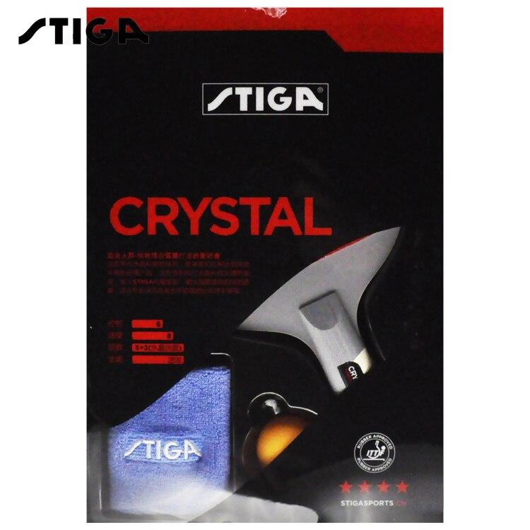 Stiga Original 4 Star Crystal Table Tennis Racket with Rubber + Wristband + Ball Set