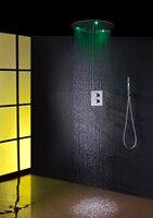100V~240V Alternating Current LED Round Head Shower Easy install Box Shower Mixer Valve Thermostatic Bathroom Shower Faucet Tap