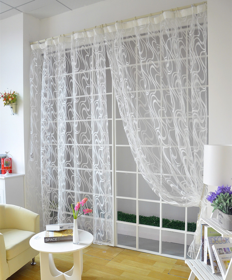 Modern Style Simple Design Striped Jacquard Windown Tulle Curtain For  Living Room In Curtains From Home U0026 Garden On Aliexpress.com | Alibaba Group