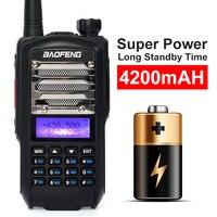 מכשיר הקשר ניו Baofeng UV9 מכשיר הקשר 5-8W צריכת חשמל גבוהה VHF UHF UV Dual Band נייד שני הדרך רדיו Push To Talk PTT עם פנס (2)