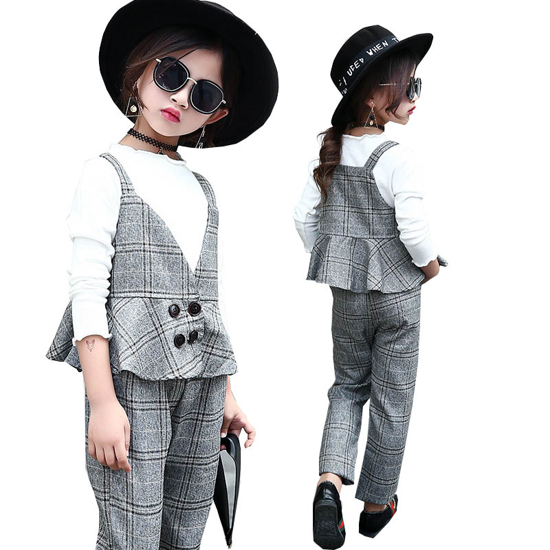 Teenage girls clothing set kids tracksuit for girls sport suit school uniform plaid girls clothes spring 3pcs children clothes mihkalev spring children set for girl clothing set tops skirts girls 2pcs sport suit for children clothes suit kids tracksuit