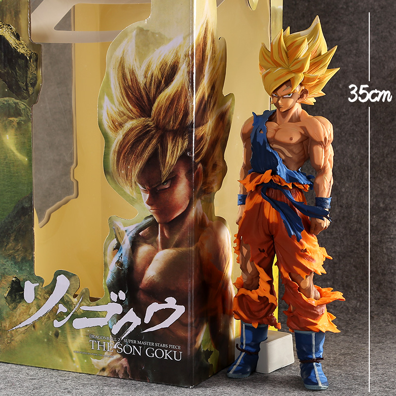 Special Anime Paint Color 14 35CM Big Size Dragon Ball Z Super Saiyan The SON GOKU PVC Action Figure Collection Model Toy WX189 dragon ball z action figures super saiyan son goku grey color anime dbz collectible model toys 350mm dragon ball gt toy