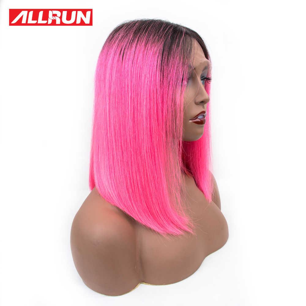 Парики из натуральных волос Allrun, Короткие парики из натуральных волос, парики из натуральных волос