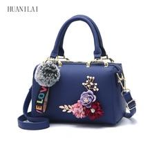 купить HUANILAI Women Bag PU Leather Handbag Messenger Bags Girl Shoulder Bags Artificial Flower Bag ZJS01 по цене 1302.62 рублей