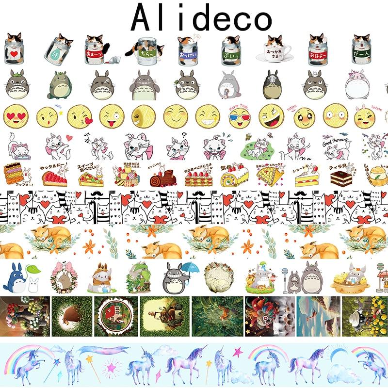 Alideco  Decorative Adhesive Washi Masking Tapes Animals Cat Cake Scrapbooking DIY Paper Japanese Stickers Size 1.5cm*10m diy fondant decorative cutter cake punch set purple