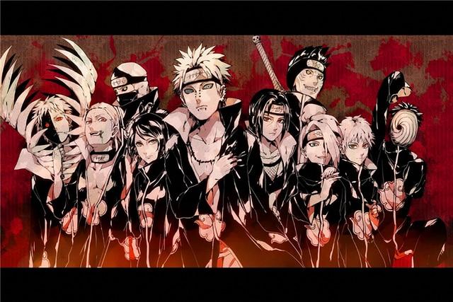 Benutzerdefinierte Leinwand Kunst Naruto Poster Naruto Wandaufkleber ...