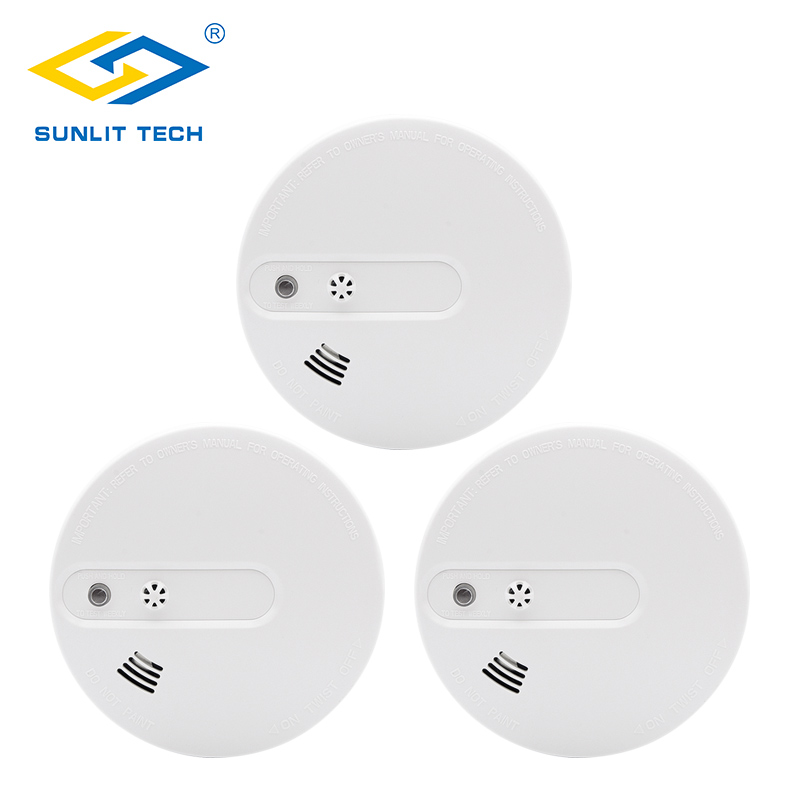 3pcs/lot Fire Smoke Sensors Wifi Wireless Heat 2 In 1 Smoke Temperature Detector Sensor Alarm For 433MHz Home Security System
