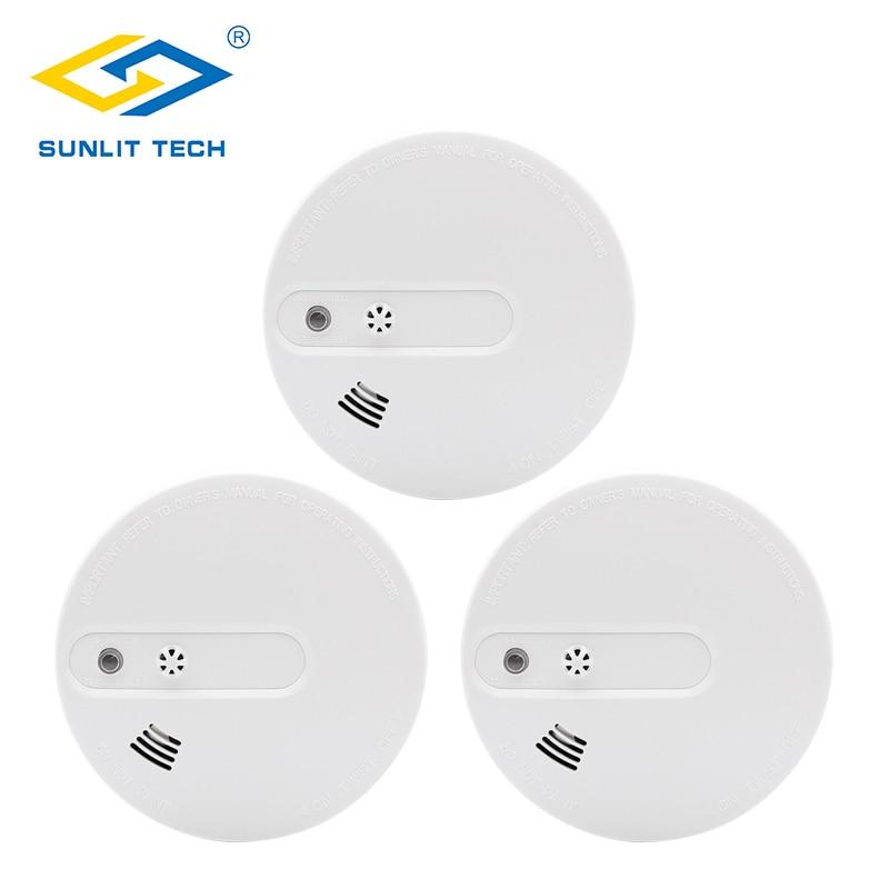 3pcs/lot Fire Smoke Sensors Wifi Wireless Heat 2 In 1 Smoke Temperature Detector Sensor Alarm For 433MHz Home Security System