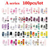100pcs Full Cover Self Adhesive Polish Foils Nail Art Stickers Decals DIY Manicure Beauty Nail Wraps