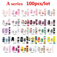 100pcs Full Cover Self Adhesive Polish Foils Nail Art Stickers Decals DIY Manicure Beauty Nail Wraps Decoration Wholesale