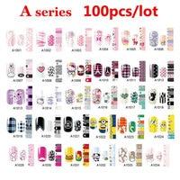100pcs Full Cover Self Adhesive Polish Foils Nail Art Stickers Decals DIY Manicure Beauty Nail Wraps Decoration Wholesale