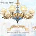 Французская хрустальная люстра роскошная атмосфера вилла гостиная спальня столовая лампа Европейский стиль ретро садовая люстра