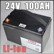 24V 100AH Солнечная энергия ABS водонепроницаемый литиевый аккумулятор 29,4 V lipo литий-ионный аккумулятор для велосипеда