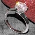 Luxury 3 Carat ct F Color Engagement Wedding Lab Grown Moissanite Diamond Ring 14K 585 White Gold For Women