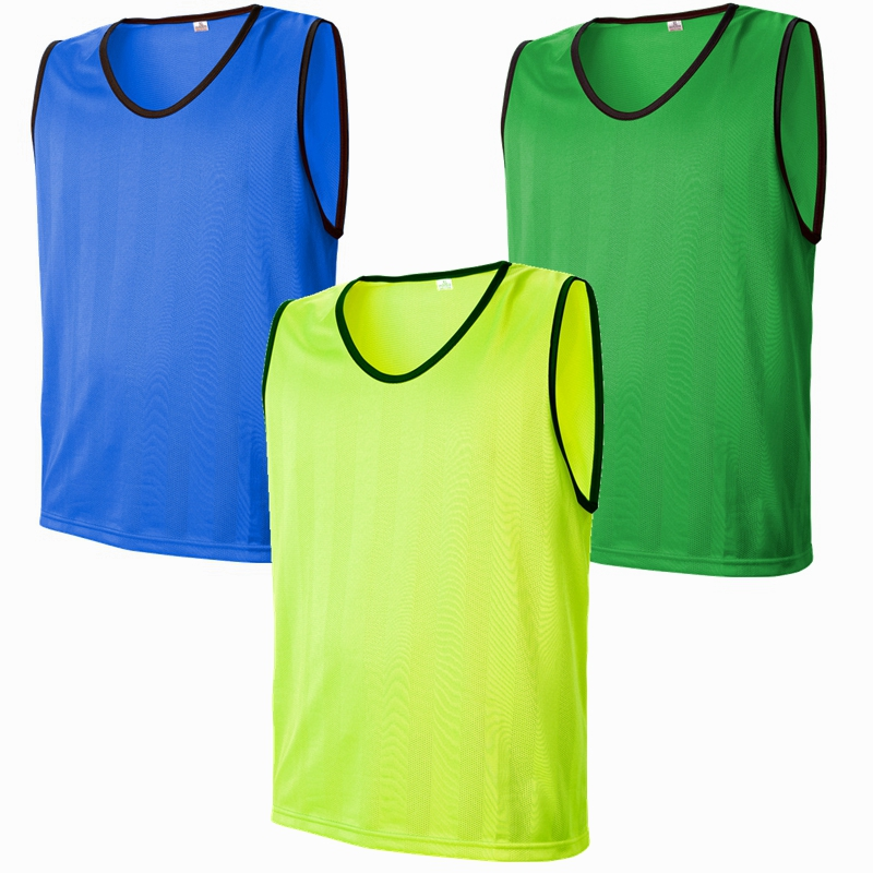 8031d22078b Men adult Soccer Training Jerseys Sport Kits Against Vest Football  Waistcoat running Team Group Tops Shirts