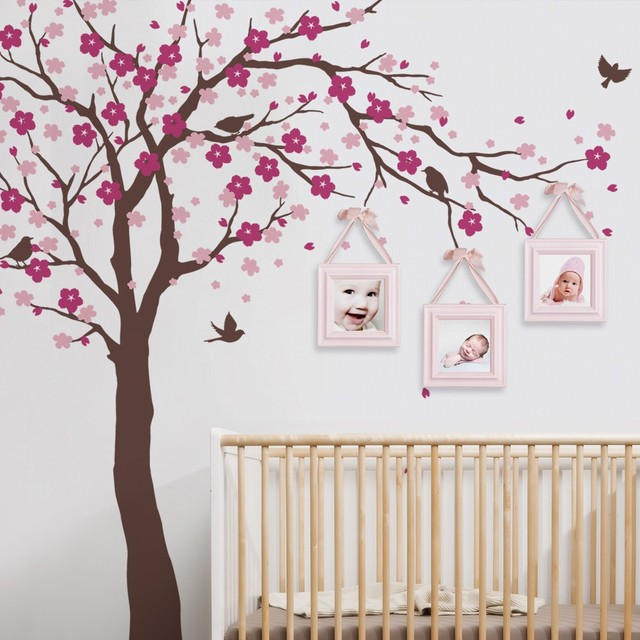 Cherry Blossom Tree Wall Decals Baby Room Nursery Large Tree With - Wall decals baby room