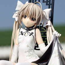 Yosuga no Sora  PVC cheongsam Action Figure Sitting Posture Model Anime Mini Doll Decoration PVC Collection Figurine Toys model disney star wars darth vader 28cm action figure posture model anime decoration collection figurine toys model for children gift