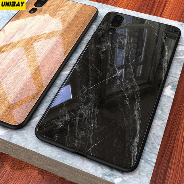 the best attitude 5599d 965a7 US $16.98 |Huawei p20 pro tempered Glass back Cover 9h Anti Explode Huawei  p20 Wood grain Color bamboo stone case-in Fitted Cases from Cellphones & ...