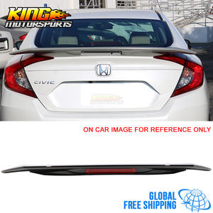 Spoiler Painted for 16-17 Honda Civic X RS Trunk LED LED