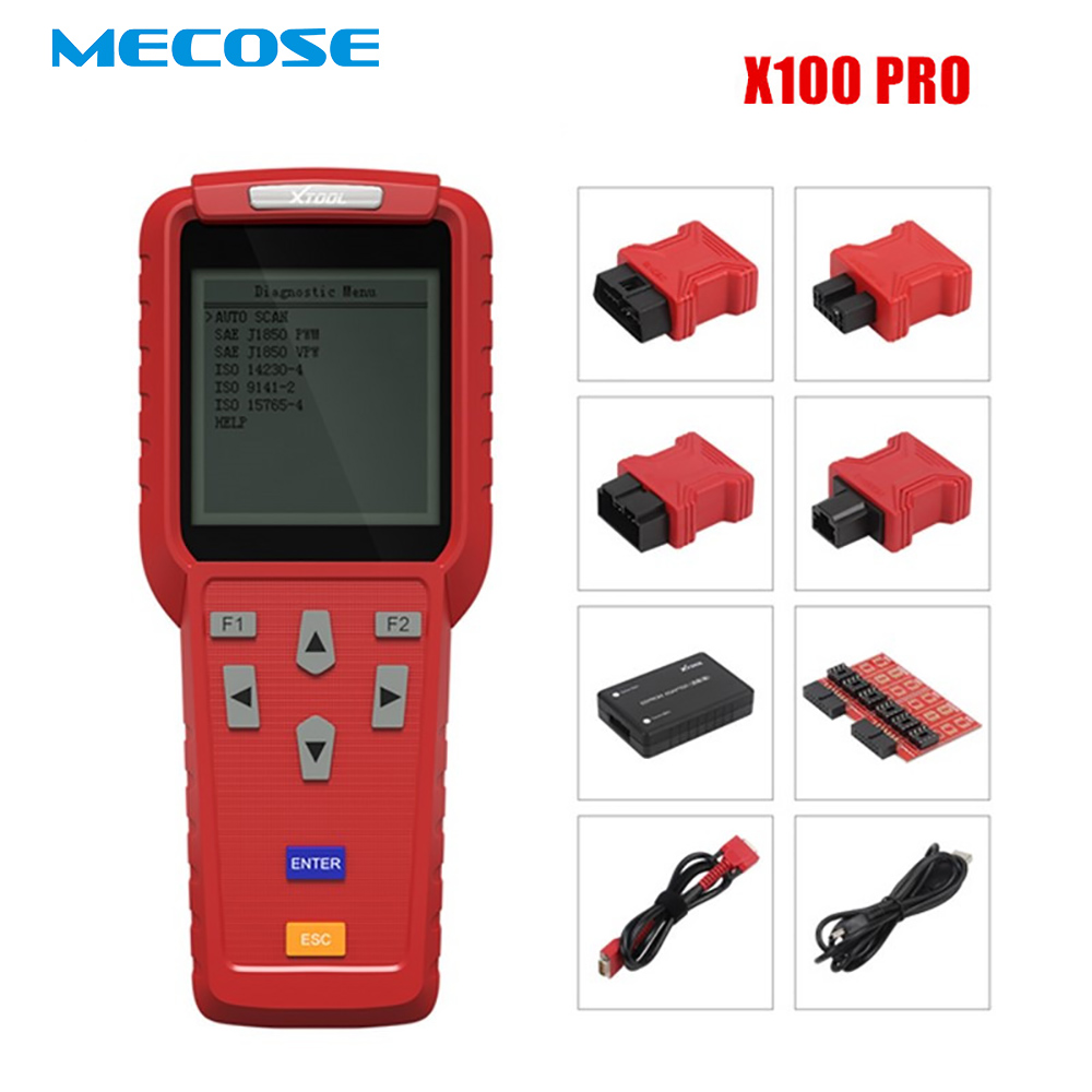 100% Original XTOOL X100 Pro Professional Auto Key Programmer and Mileage adjustment Odomete Work for most of car models