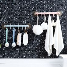 6 Hooks Storage Hanger Rack Wall Mounted Kitchen Hanging Holder Colorful Sucker Suction Hooks Home Bathroom Accessories