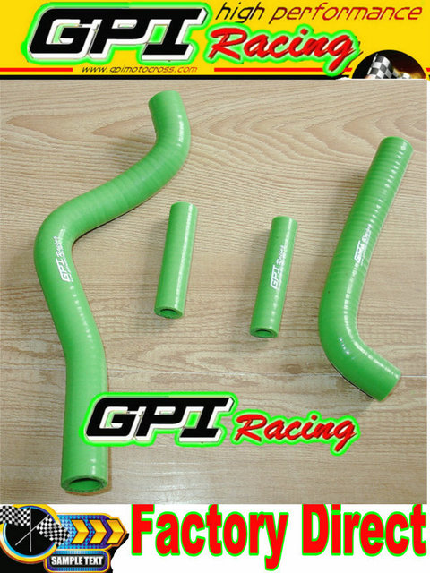 GPI silicone radiator hose FOR KAWASAKI KX125 KX 125 99-02 00 01 1999 2000 2001 2002 GREEN