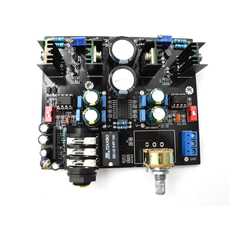 TPA6120A NE5534 Headphone Amplifier Board UPC1237 Protective Circuit for 32-600 ohm speaker amplificador audio G9-007