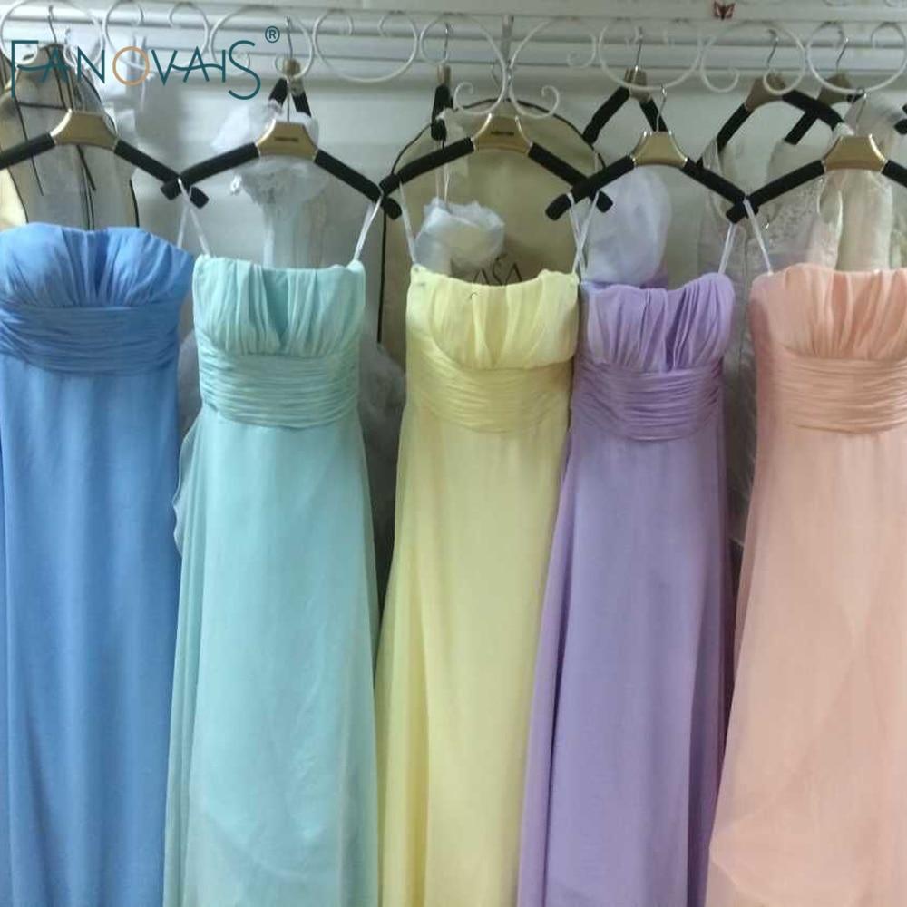Convertible Multi Color Chiffon Bridesmaid Dresses Long