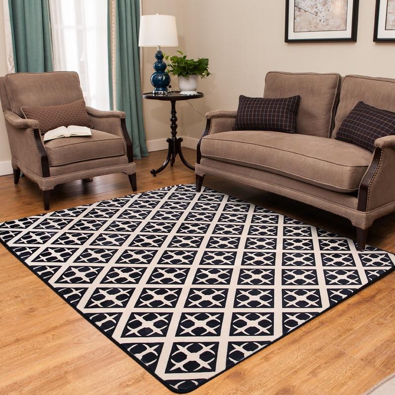 Géométrique rayé Vintage tapis tapis Style européen salon chambre Tapete tapis antidérapant décor à la maison Rectangle tapis de sol