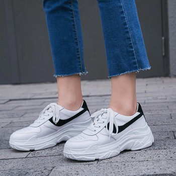Women Dad Sneakers 2019 Fashion Casual Shoes Woman Comfortable Breathable White Flats Female Platform Sneakers Chaussure Femme