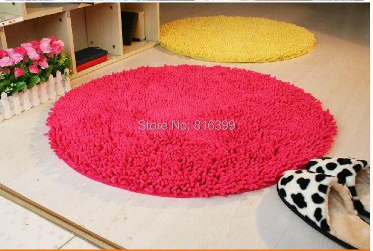 Livraison gratuite 120*120 cm pour salon lavable Super mignon tapis rond chambre tapis