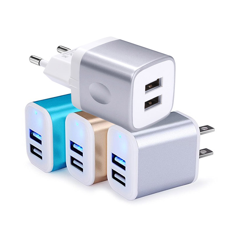 AILKIN 5V 2.1A USB Charger for iPhone X 8 7 iPad Air Fast Wall Charger EU US Adapter for Samsung S9 Xiaomi Mobile Phone Charger