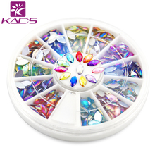 KADS AB 3*6 mm Tear Nail Art Decorations Rhinestone 120PCS in 12 Color for nail accessories for nail decoration rhinestone