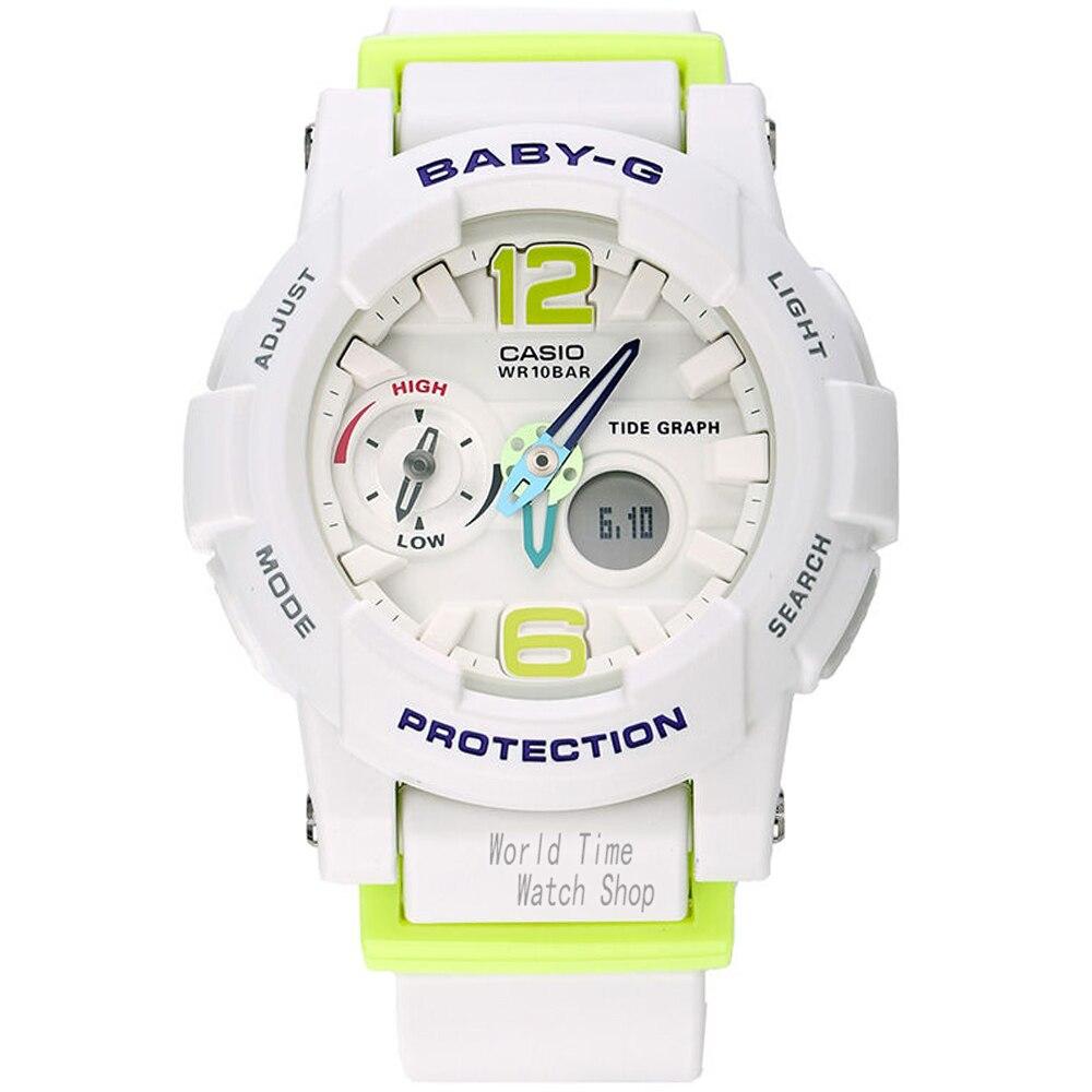 Casio watch tide three-dimensional electronic sports female watch BGA-180-7B2  casio watch sweet fashion sports female student watch lx 500h 1b 1e 4e 7b2