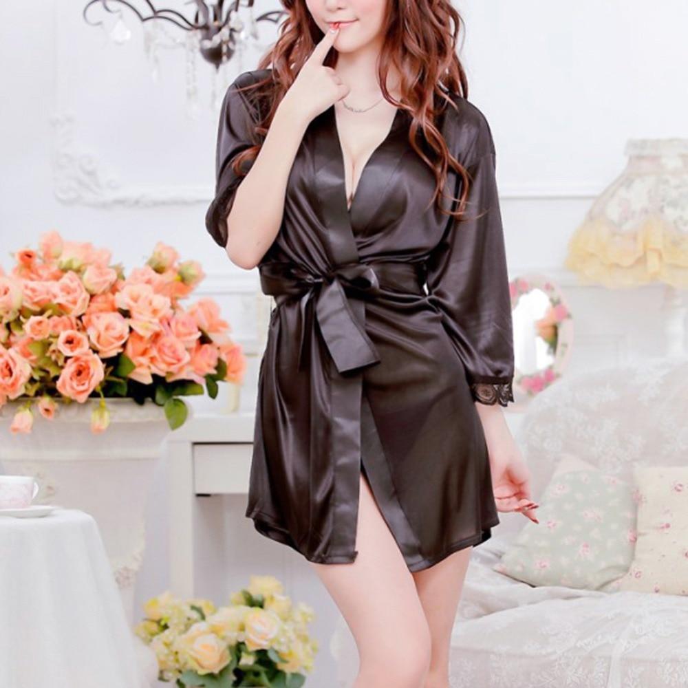 Womens Sexy Lingerie Lace Dress Underwear Black Babydoll Sleepwear+G-string new