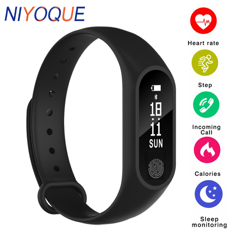 NIYOQUE Smart Band M2 Bluetooth Smart Bracelet Heart Rate Monitor Fitness Sleep Tracker Smart Band Wristband relogio inteligente in Smart Wristbands from Consumer Electronics