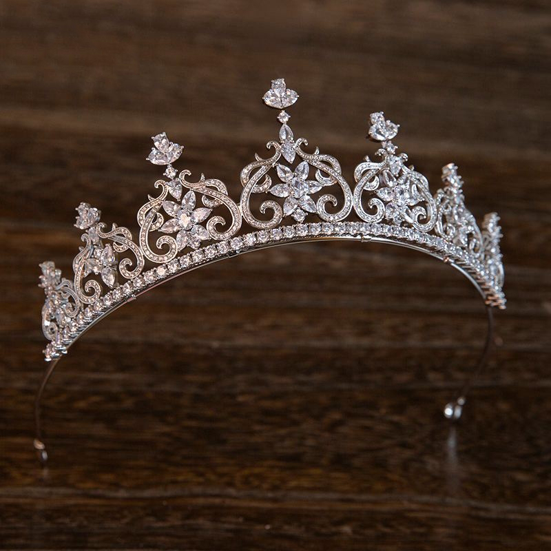 New Fashion Cubic Zirconia Tiara Crown Marquise-Cut Zircon Flower Headband Jewelry Wedding Bride Headdress Queen Headpiece Gifts цена 2017
