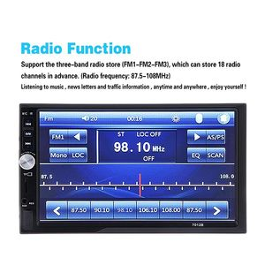 Image 5 - 7012B 7 インチ Bluetooth V2.0 カーオーディオステレオタッチスクリーン MP5 プレーヤーサポート MMC