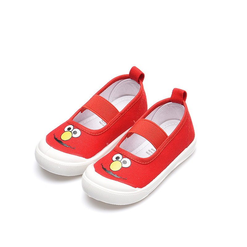JGSHOWKITO Toddlers Kids Shoes Boys Girls Canvas Sneakers Soft Cartoon Prints Children's Casual Shoes Kindergarten Pupils Shoes