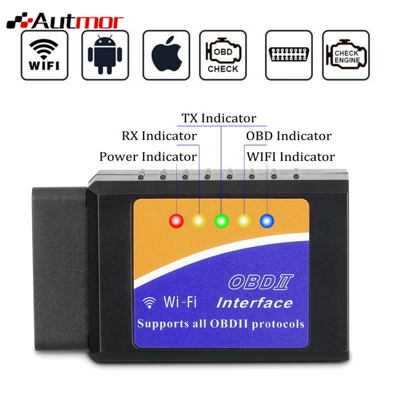 Auto WIFI OBD 2 Drahtlose Auto Code Reader Scan Tool Scanner Adapter Überprüfen Motor Diagnose-Tool für iOS Apple iPhone iPad Andorid